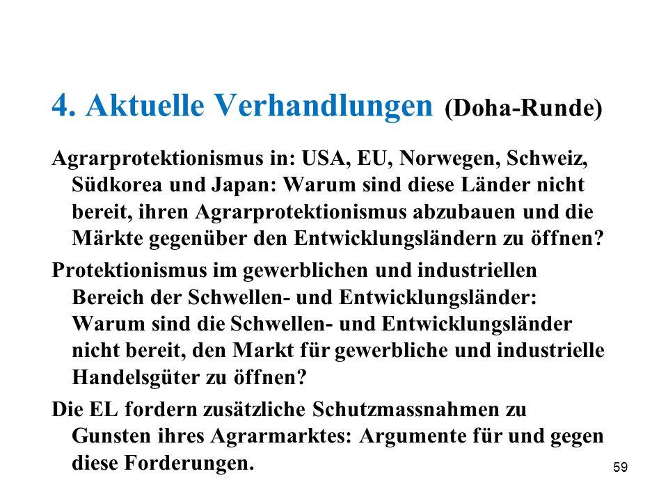 4. Aktuelle Verhandlungen (Doha-Runde)