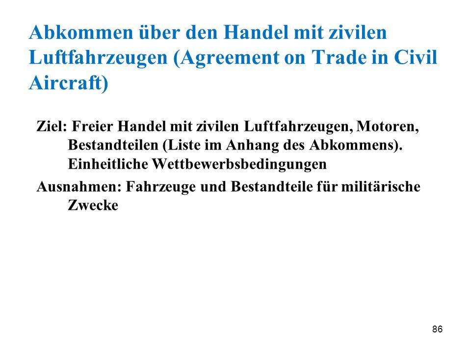 Abkommen über den Handel mit zivilen Luftfahrzeugen (Agreement on Trade in Civil Aircraft)