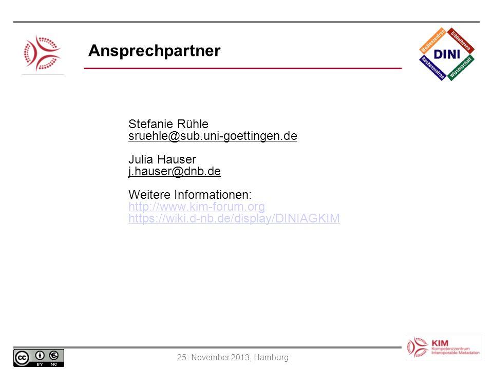 Ansprechpartner Stefanie Rühle sruehle@sub.uni-goettingen.de