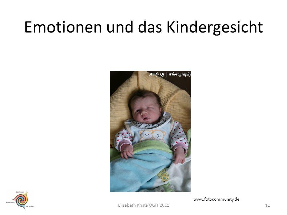 Emotionen und das Kindergesicht