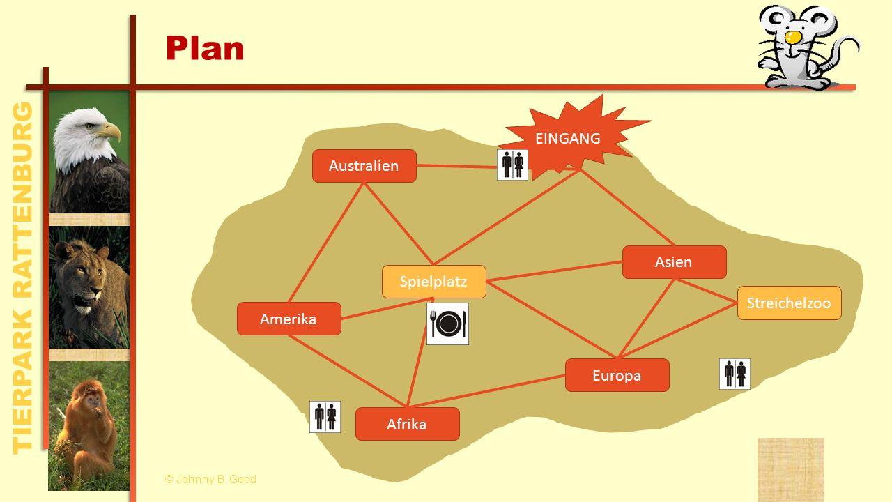 Plan EINGANG Australien Asien Spielplatz Streichelzoo Amerika Europa