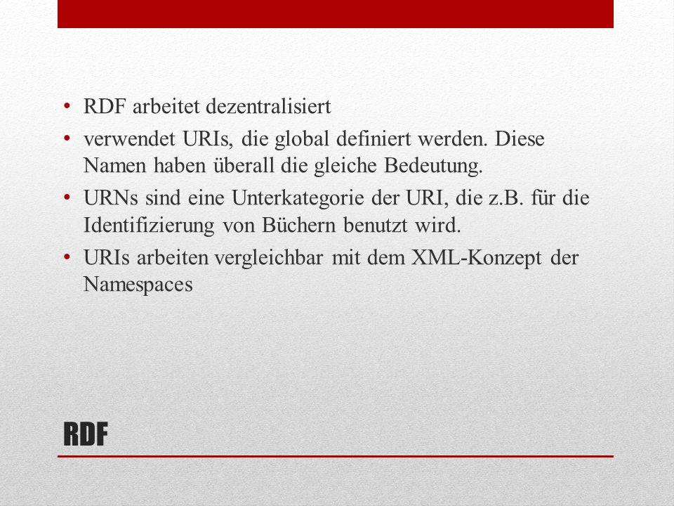 RDF RDF arbeitet dezentralisiert