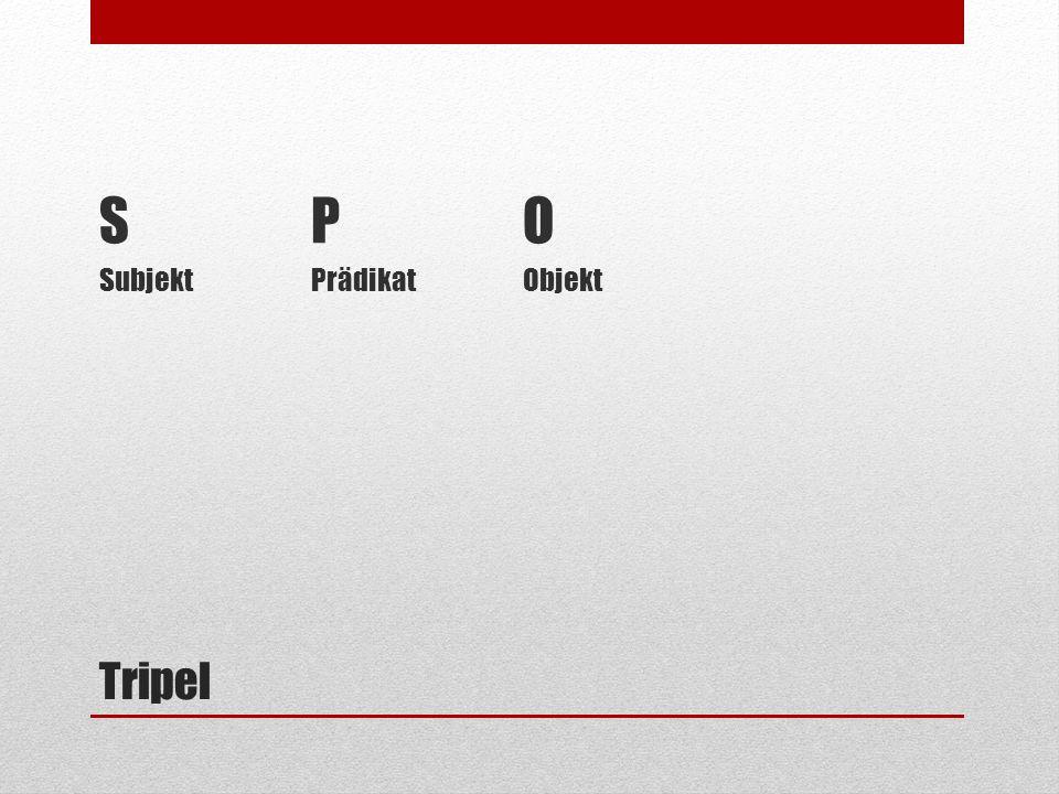 S P O Subjekt Prädikat Objekt Tripel