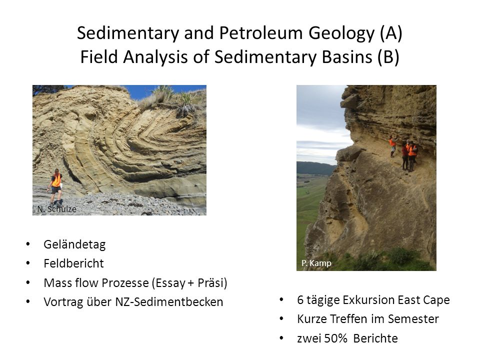 Sedimentary and Petroleum Geology (A) Field Analysis of Sedimentary Basins (B)