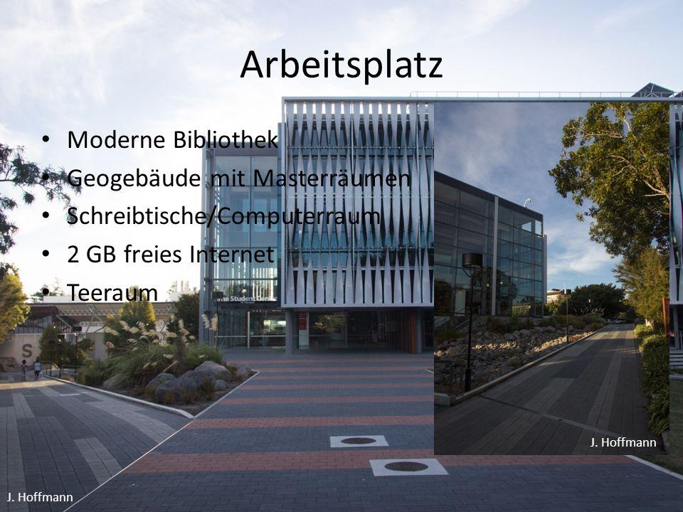 Arbeitsplatz Moderne Bibliothek Geogebäude mit Masterräumen