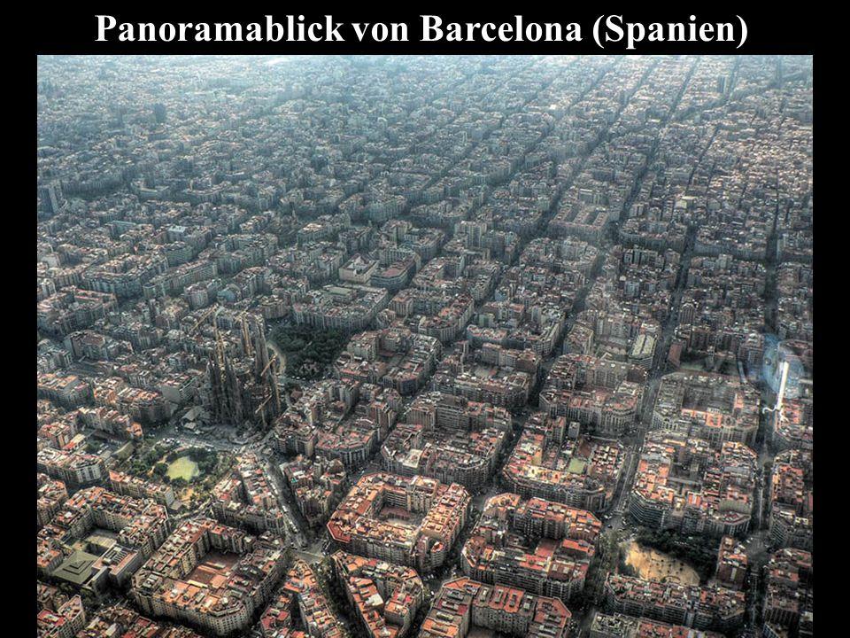 Panoramablick von Barcelona (Spanien)