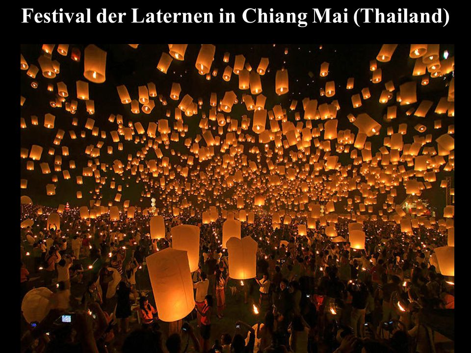 Festival der Laternen in Chiang Mai (Thailand)