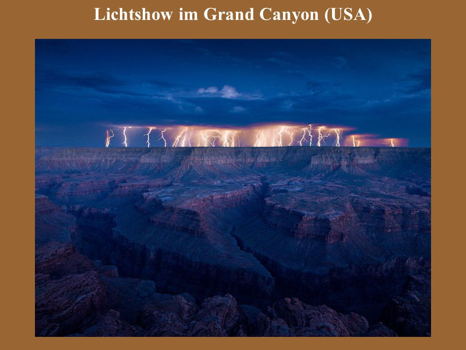 Lichtshow im Grand Canyon (USA)