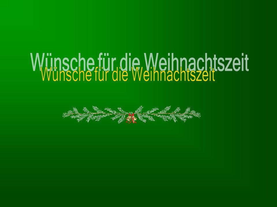 Wünsche für die Weihnachtszeit
