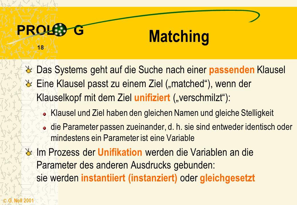 Matching Das Systems geht auf die Suche nach einer passenden Klausel