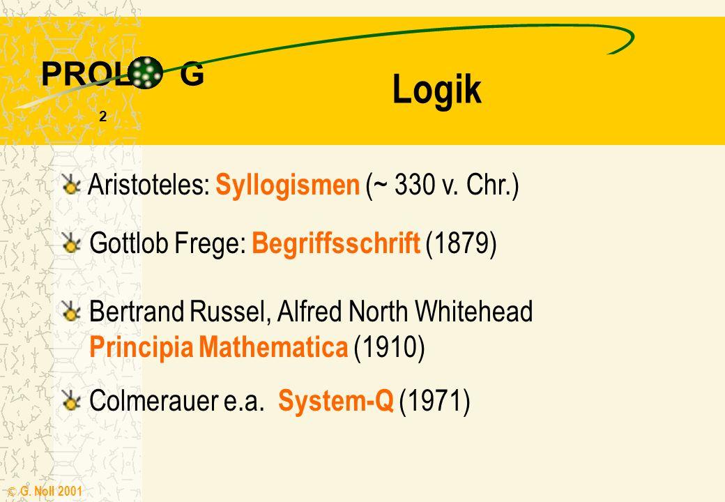 Logik Aristoteles: Syllogismen (~ 330 v. Chr.)