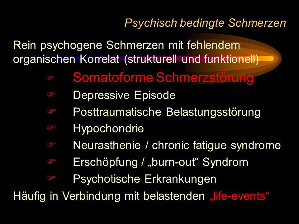 Psychisch bedingte Schmerzen