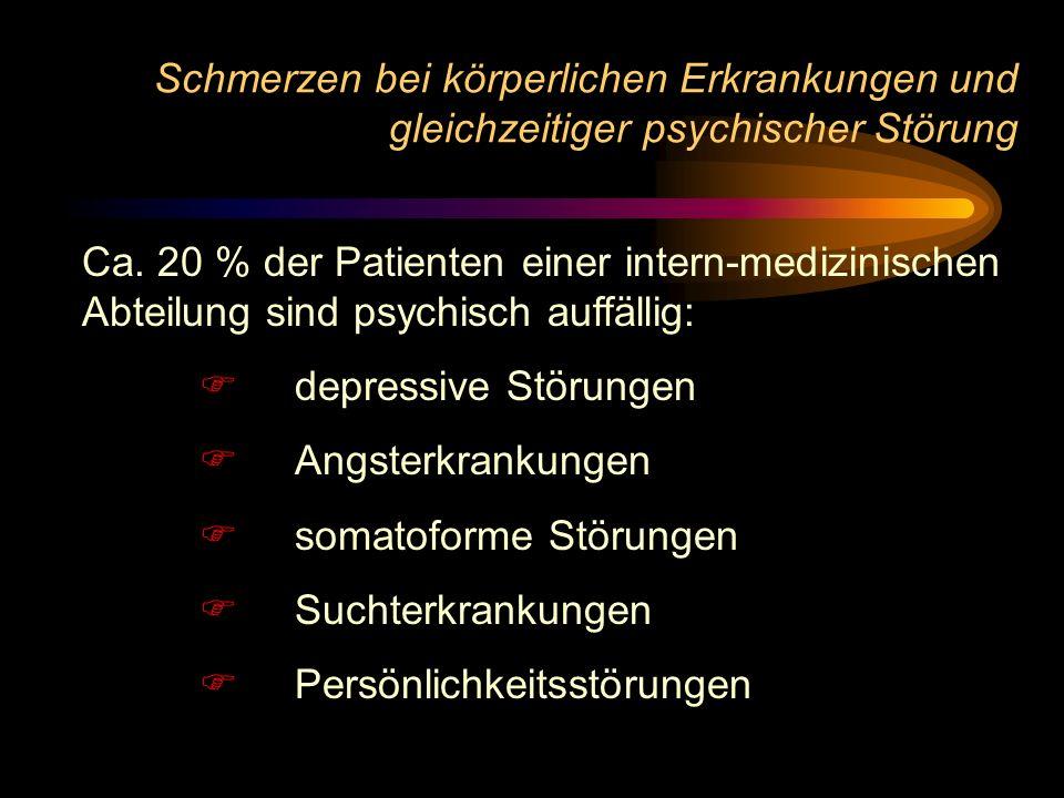 Schmerzen bei körperlichen Erkrankungen und gleichzeitiger psychischer Störung