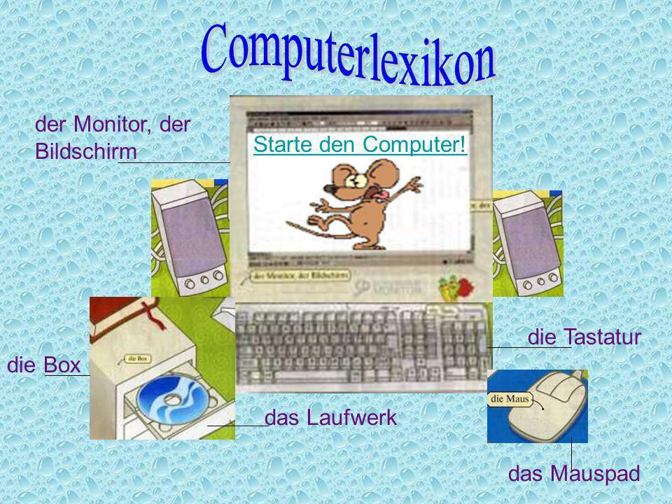 Computerlexikon der Monitor, der Bildschirm Starte den Computer!