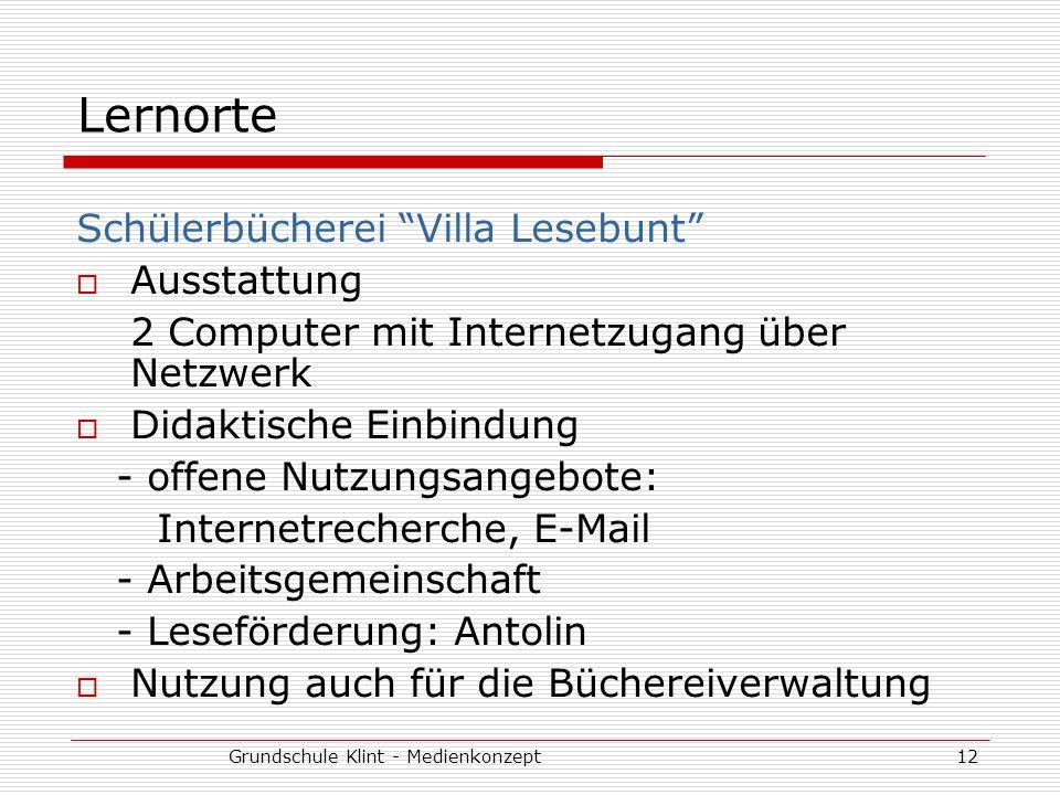 Grundschule Klint - Medienkonzept