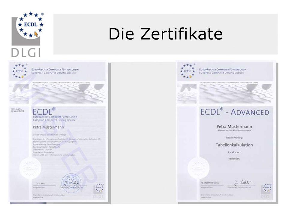 Die Zertifikate
