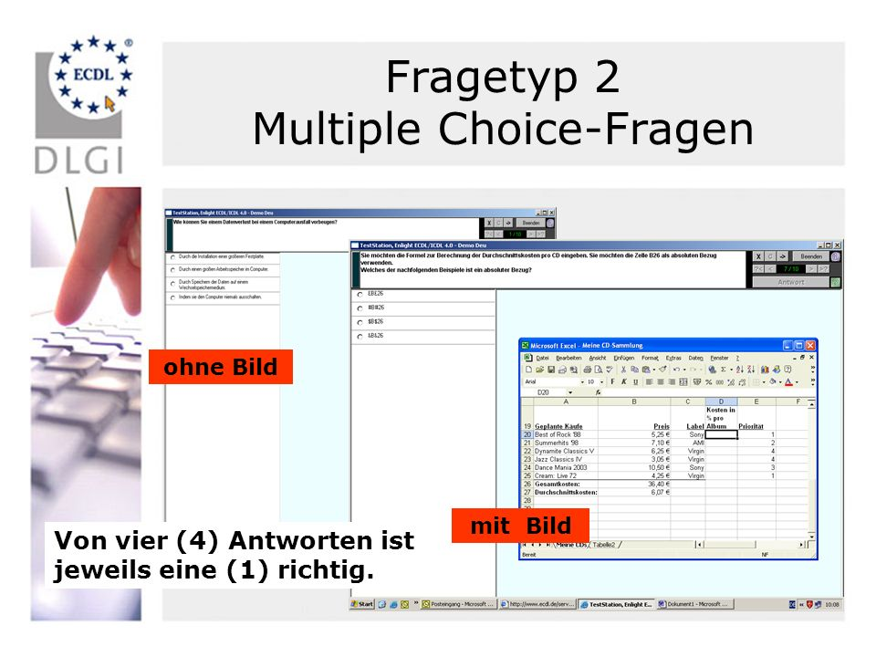 Fragetyp 2 Multiple Choice-Fragen