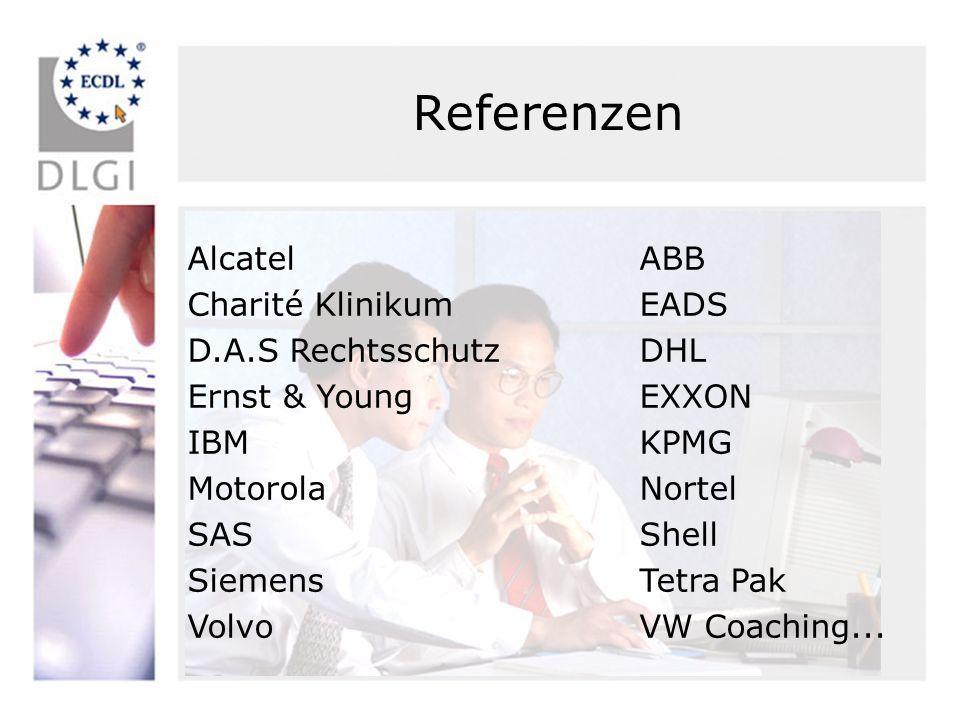 Referenzen Alcatel ABB Charité Klinikum EADS D.A.S Rechtsschutz DHL