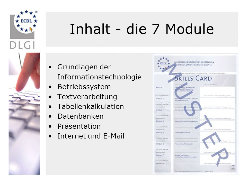Inhalt - die 7 Module Grundlagen der Informationstechnologie
