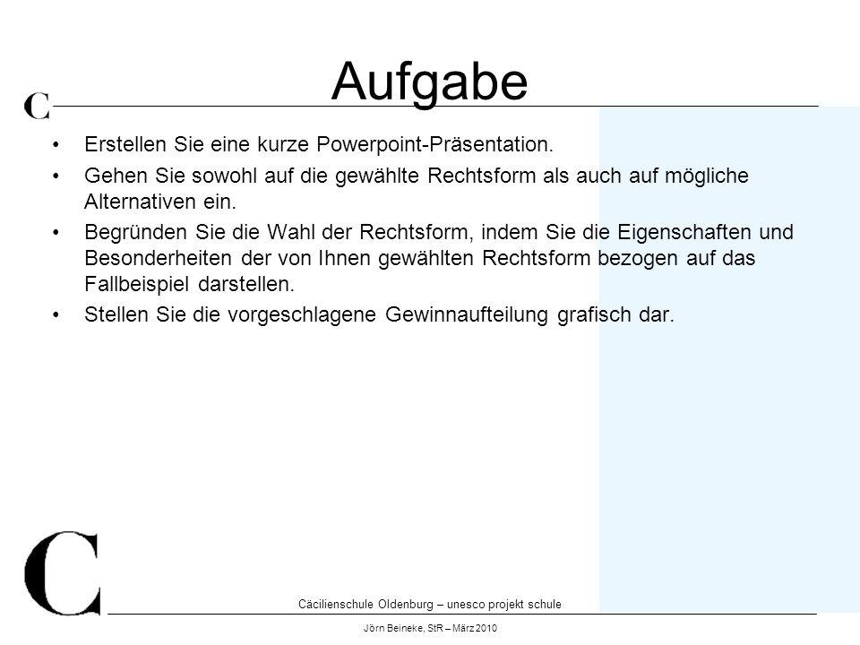 Aufgabe Erstellen Sie eine kurze Powerpoint-Präsentation.