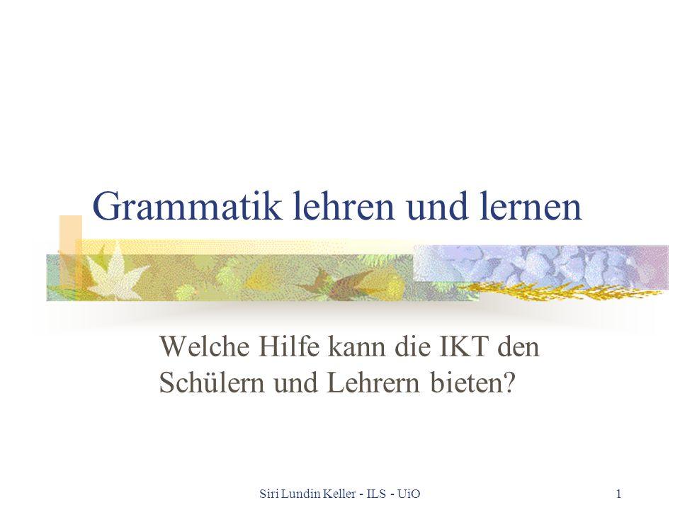 Grammatik lehren und lernen