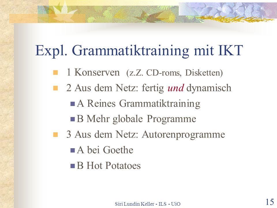 Expl. Grammatiktraining mit IKT