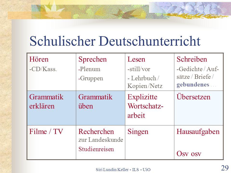 Schulischer Deutschunterricht