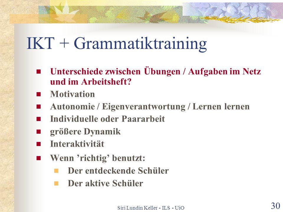 IKT + Grammatiktraining