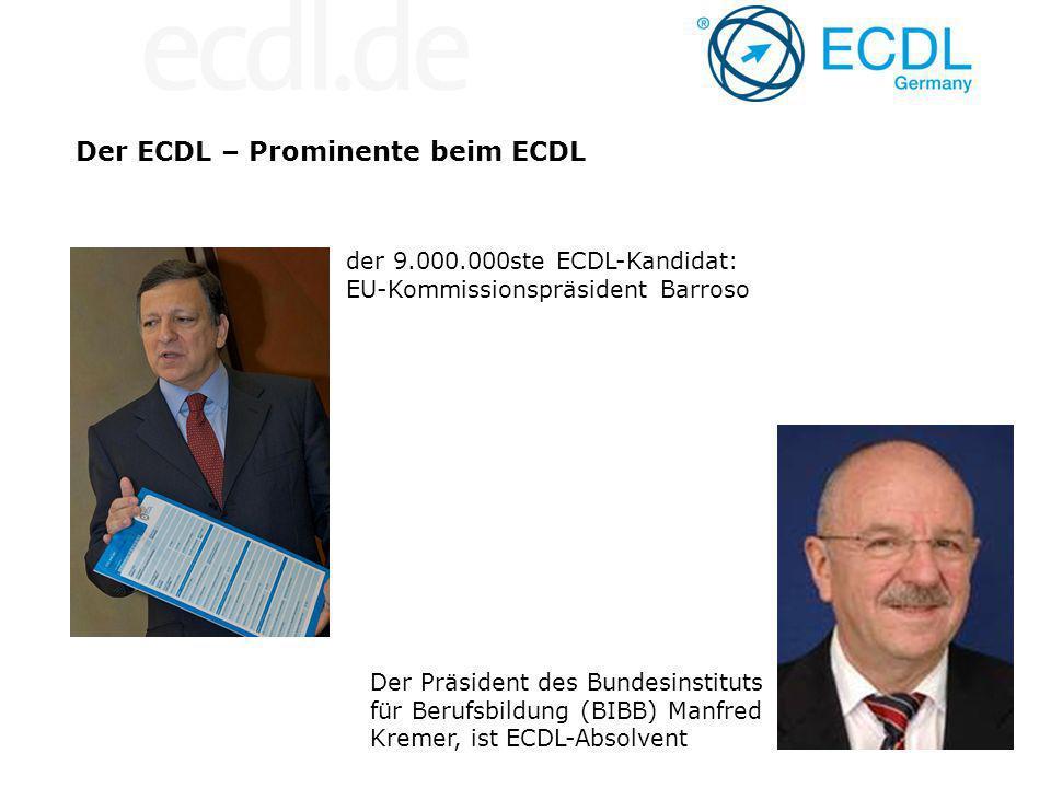 Der ECDL – Prominente beim ECDL