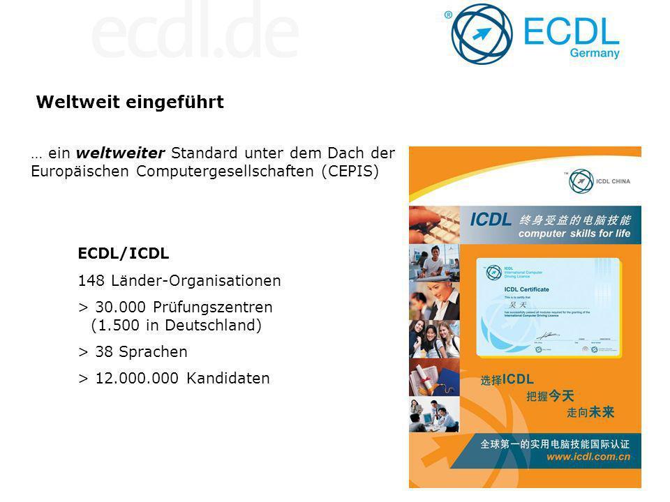 Weltweit eingeführt … ein weltweiter Standard unter dem Dach der Europäischen Computergesellschaften (CEPIS)