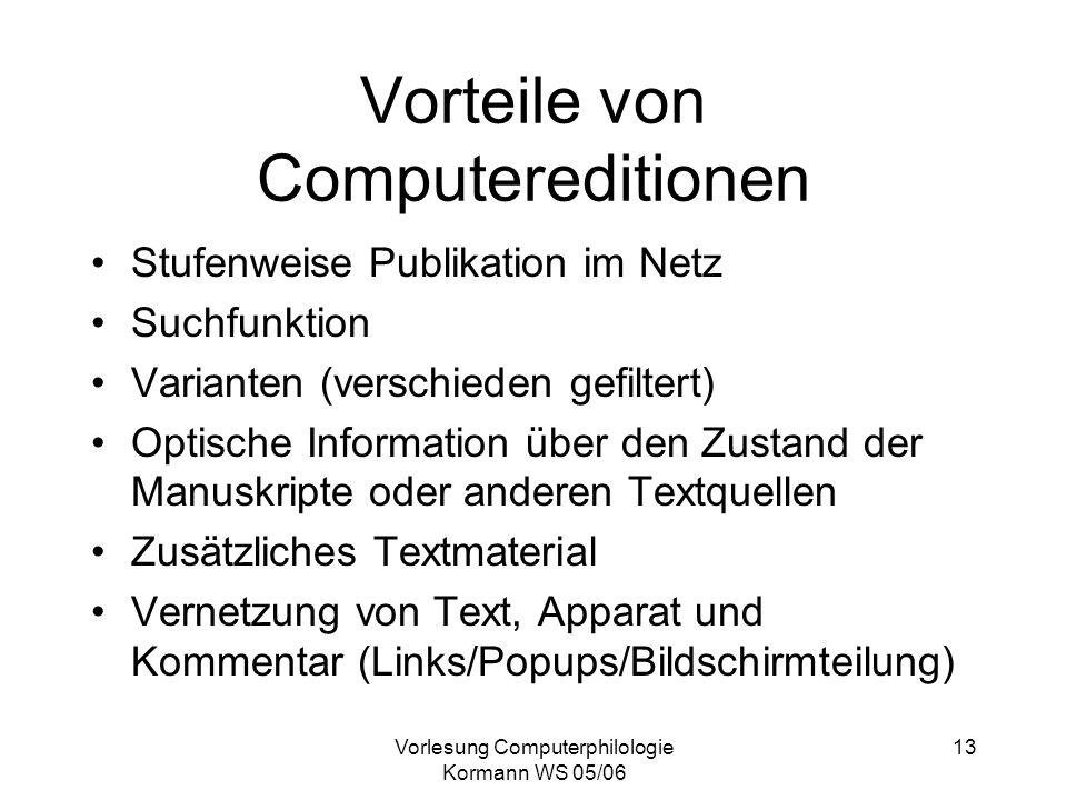 Vorteile von Computereditionen