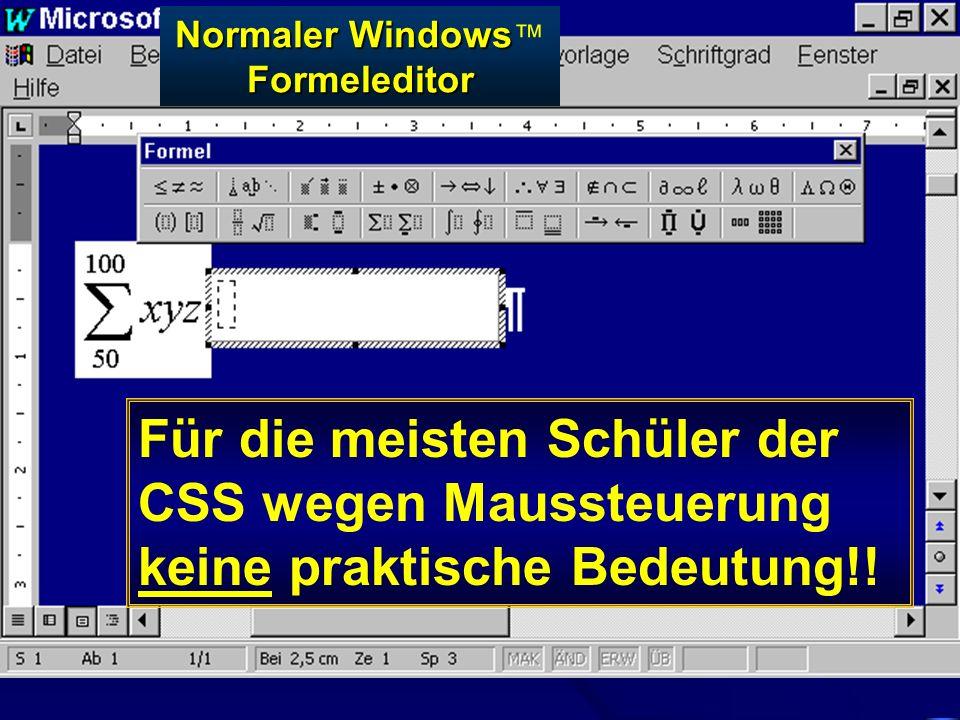 Normaler Windows™ Formeleditor