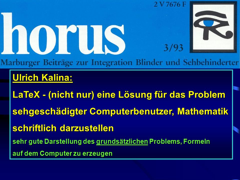 LaTeX - (nicht nur) eine Lösung für das Problem
