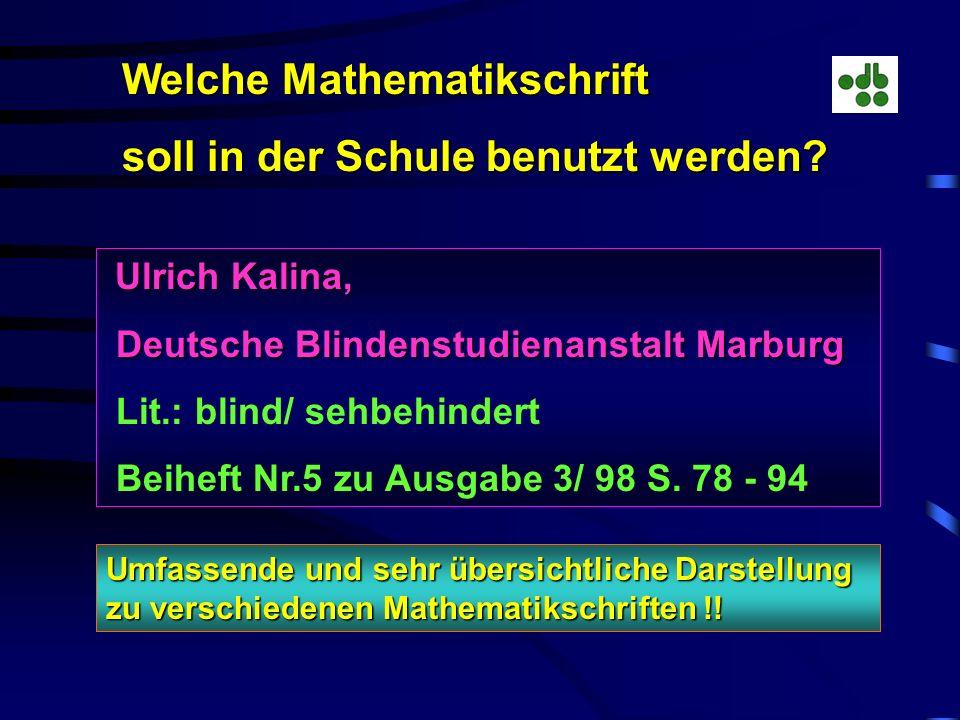 Welche Mathematikschrift soll in der Schule benutzt werden