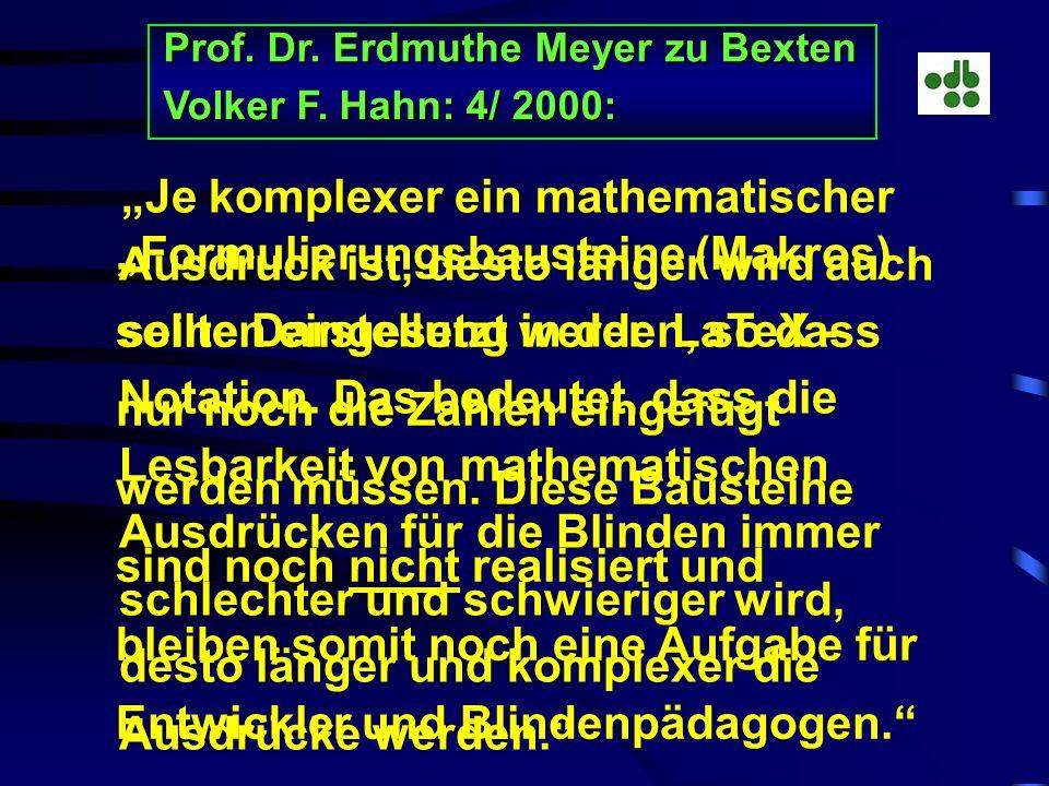Prof. Dr. Erdmuthe Meyer zu Bexten