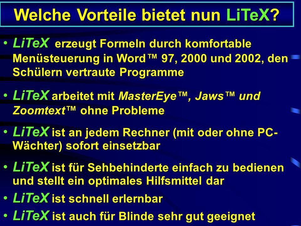 Welche Vorteile bietet nun LiTeX