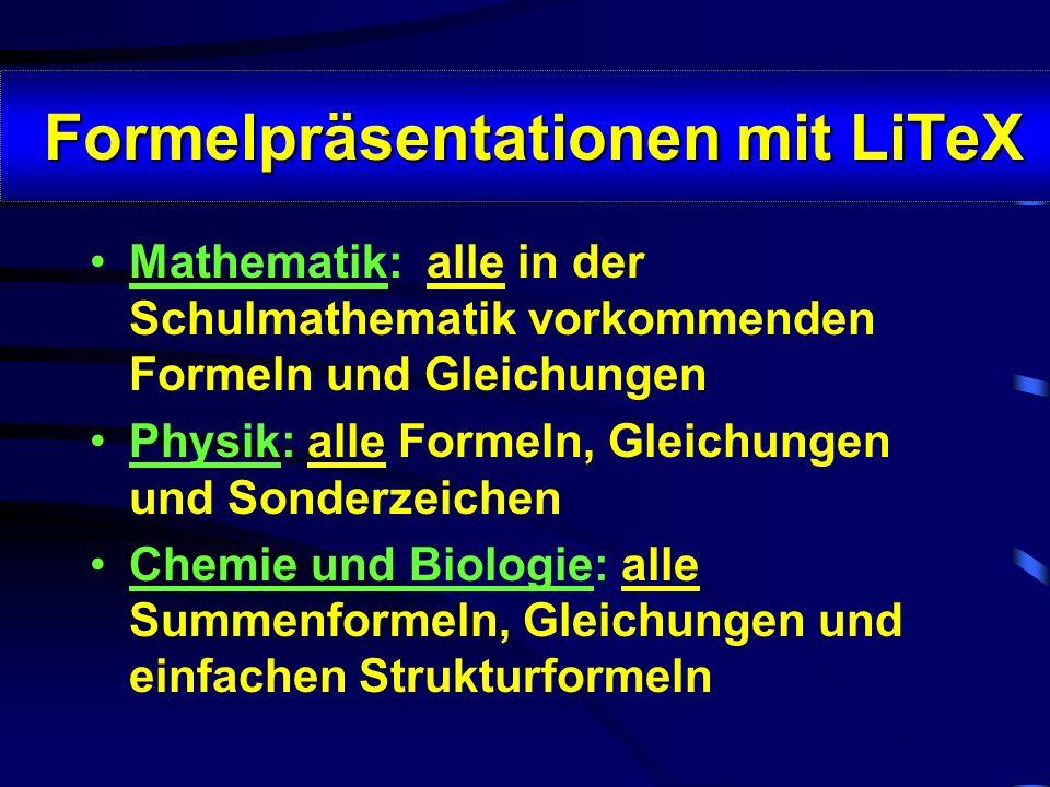 Formelpräsentationen mit LiTeX