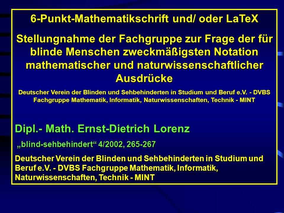 6-Punkt-Mathematikschrift und/ oder LaTeX