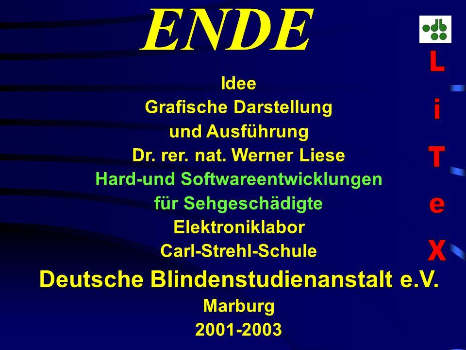 ENDE LiTeX Deutsche Blindenstudienanstalt e.V. Idee