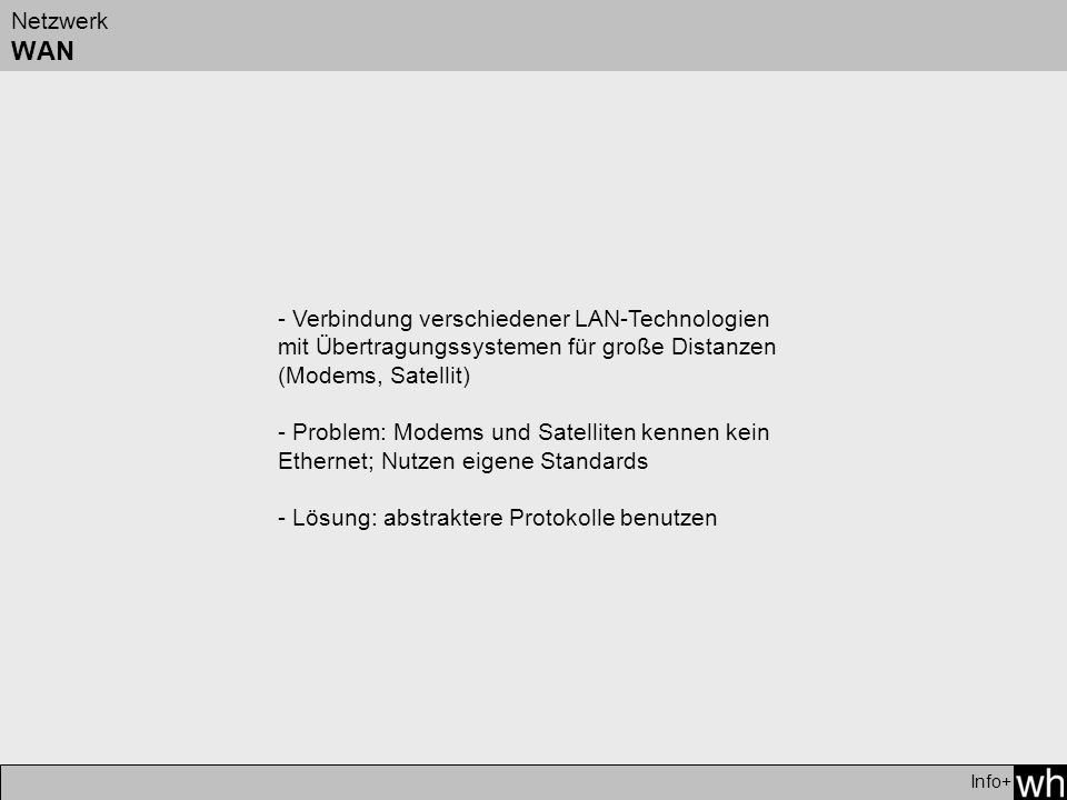 - Lösung: abstraktere Protokolle benutzen