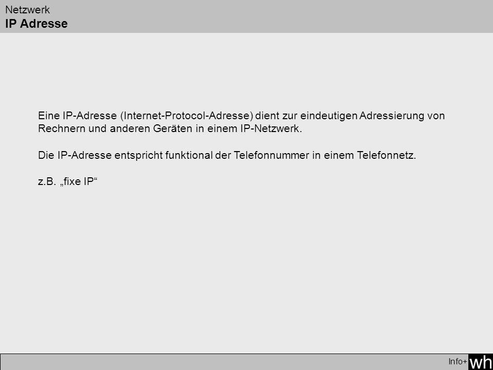 Netzwerk IP Adresse