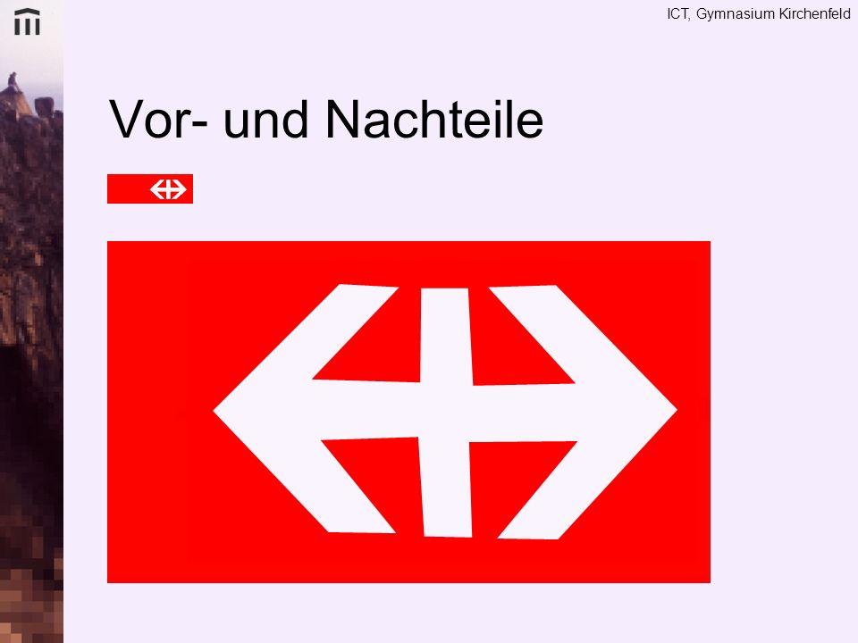 Vor- und Nachteile Logo ideal für Vektor (einfache Mathematische Formen, grosse Flächen und wenig Farbverläufe)