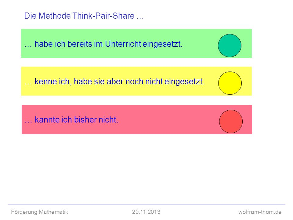 Die Methode Think-Pair-Share …
