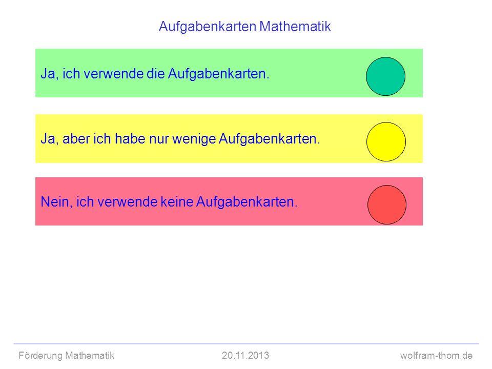 Aufgabenkarten Mathematik
