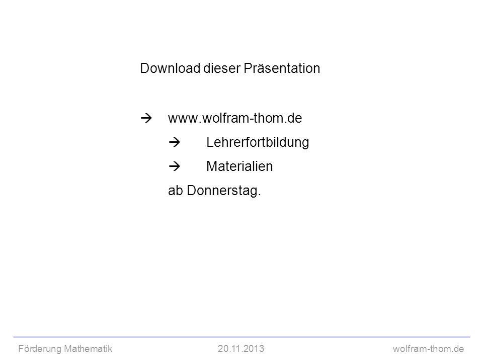 Download dieser Präsentation. . www. wolfram-thom. de. 