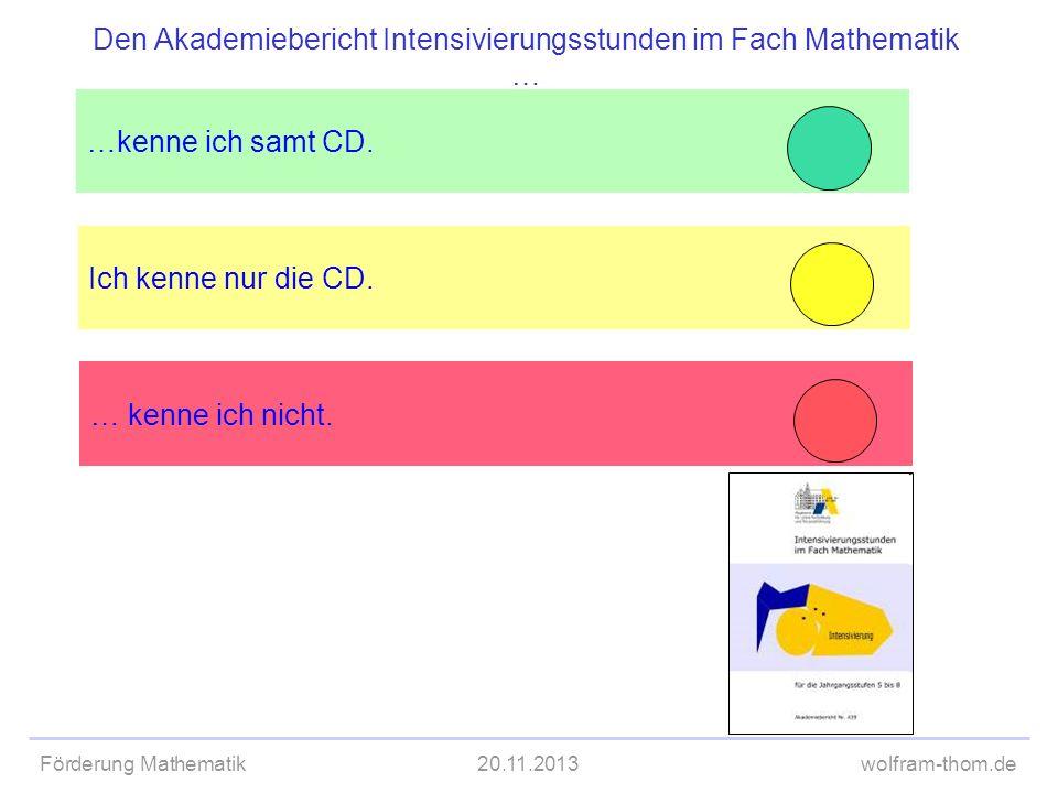 Den Akademiebericht Intensivierungsstunden im Fach Mathematik …
