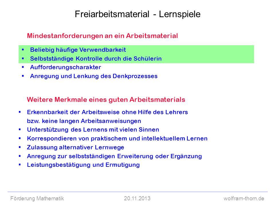 Freiarbeitsmaterial - Lernspiele