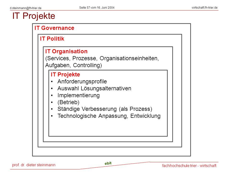 IT Projekte IT Governance IT Politik