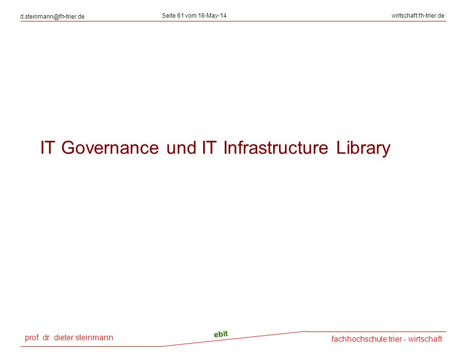 IT Governance und IT Infrastructure Library