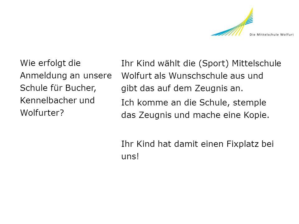 Wie erfolgt die Anmeldung an unsere Schule für Bucher, Kennelbacher und Wolfurter